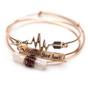 Jewelry - Follow Your Heart Vintage Gold Bangle Bracelet Set